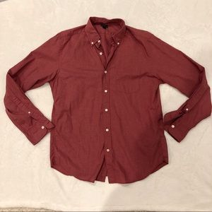 J. Crew | Long Sleeve Button Down Red sz M